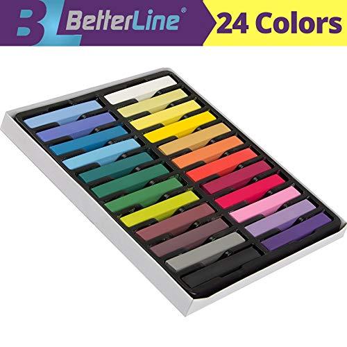 Hair Kreide Satz mit 24 Farben - Ungiftige temporäre Haarfarbe - Zeichnen Sie auf Ihr Haar, kann man leicht abwaschen