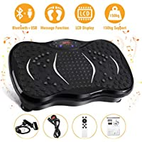 AGM Vibration Power Plates, Vibration Power Plate Gym Machine Fitness Vibrating Machine with Bluetooth Speaker Unisex Vibration Trainer For Weight Loss & Body Toning 21LB[Black/3 modes] (Black)