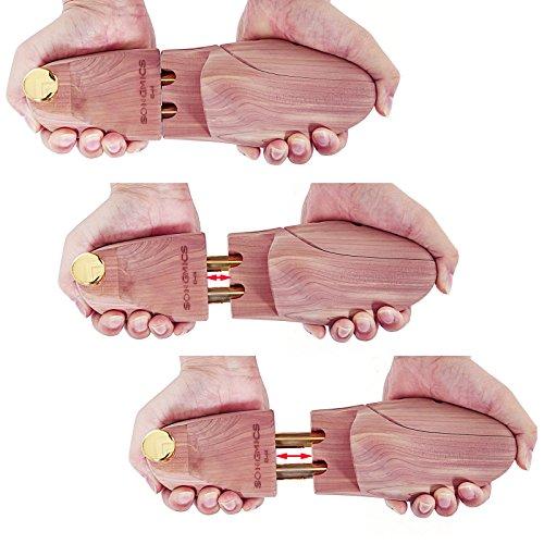 Songmics Un Paio di Tendiscarpe albero di scarpe in legno di cedro rosso naturale forma per calzature 43-44 LST003 t5fy9R
