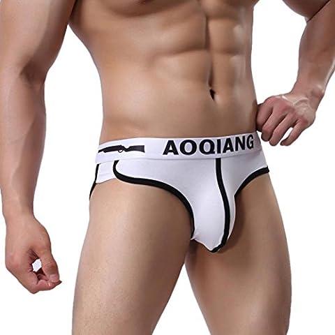 Internet Hommes sexy Triangle Boxers Shorts slips de poche (L,