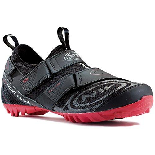 NORTHWAVE MULTI APP Mountainbike Schuhe SPD black-red, Größe:Gr. 47