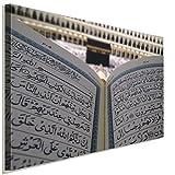 Kaaba Allah Mekka Koran Leinwandbild LaraArt Studio Wanddeko Wandbild 80 x 60 cm
