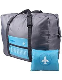 Plegable bolsa de viaje organizador bolsa de almacenamiento de equipaje ropa Pack Maleta Bolso Oxford impermeable, azul