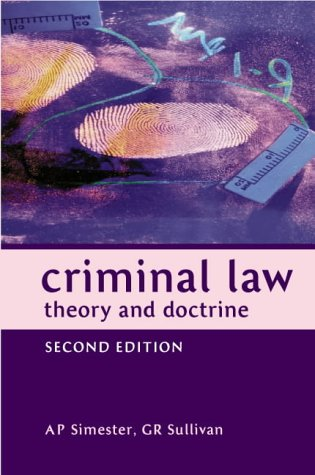 Criminal Law: Theory and Doctrine (Juridical Studies)