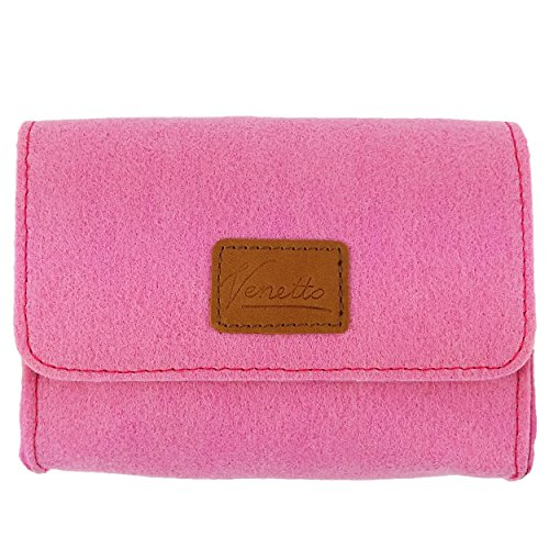 Täschchen Mini Hülle Tasche aus Filz für Zubehör und Accessoires (Netzteil, PC Maus, E-Zigarette, Kosmetik) Pink