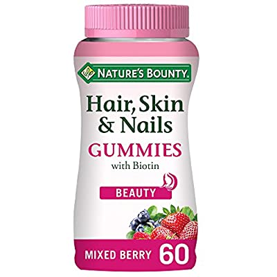 Nature's Bounty Hair, Skin and Nails Gummies with Biotin, Pack of 60
