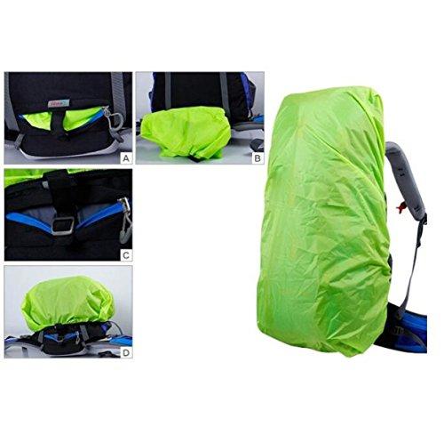 Outdoor Profi Klettern 60 + 5 L Camping Multifunktions Wasserdichter Rucksack,Green Purple