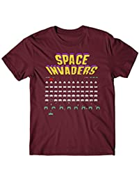 LaMAGLIERIA T-Shirt for Man Space Invaders - tee-Shirt Vintage Video Games Atari 100% Cotton