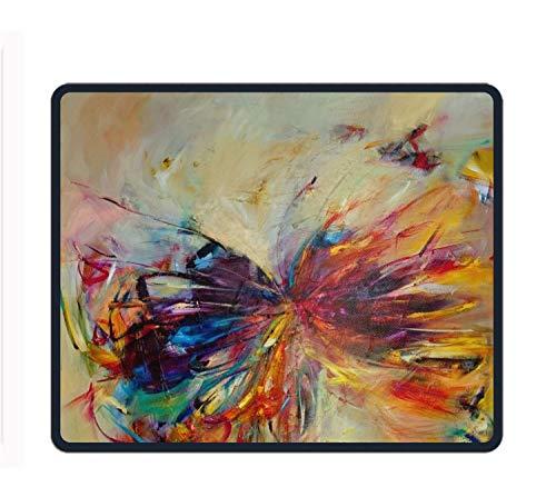 3500 Serie Notebook Laptop (Mauspad mit vernähten Kanten, Premiumtexturiertes Mauspad, Rutschfeste Gummiunterseite, für Laptop, Computer und PC, Mehrfarbig, Butterfly Series, Einheitsgröße)