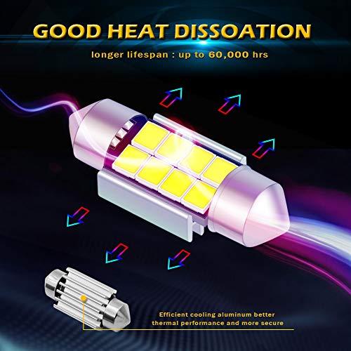 KaTur Super Bright 5630 Chipset Alluminio CanBus Error Free 1 25 '' 31mm  DE3175 DE3021 DE3022 6428 7065 LED Festone Car Interior Door Map Luci della