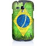 Sublinov Coque rigide pour Samsung Galaxy S3 Mini Motif Ron Abraham Brésil Multicolore