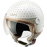 Casco Moto LEM - Roger Dusty, BEIGE/ORO BRILLO (XS)