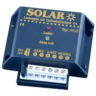 IVT 200013 Solar-Laderegler 12/24V 4A mit Tiefentladeschutz Ladegerät für Solarbatterien