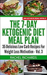 The 7-Day Ketogenic Diet Meal Plan: 35 Delicious Low Carb Recipes For Weight Loss Motivation - Volume 3 (English Edition)