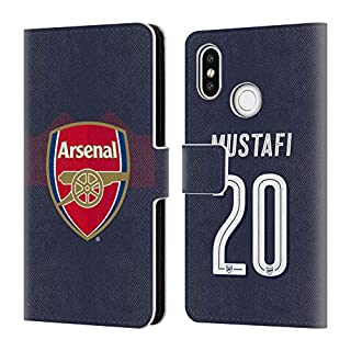 Head Case Designs Offizielle Arsenal FC Shkodran Mustafi 2018/19 Spieler Away Kit Gruppe 1 Brieftasche Handyhülle aus Leder für Xiaomi Mi 8