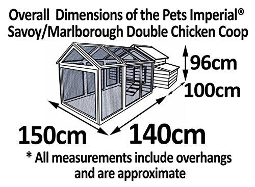 Pets Imperial® - Hühnerstall Savoy mit 1.4m Freilaufgehege - für 6 bis 8 Hühner Je nach Größe - leicht zu reinigen - 9