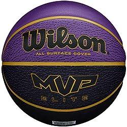 Wilson MVP Elite BSKT 295 PRBL Ballon de basket Men's, Purple/Black, OFFICIAL