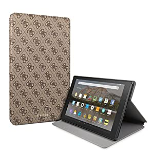 Guess 4G Cover for Fire HD 10 Tablet (7th generation - 2017 Release only), with Auto Wake/Sleep, Brown