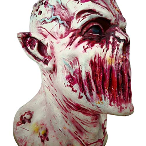 PerGrate Halloween Prop Walking Dead Latex Maske Voller Kopf Horror Zombie Masken Kostüm Party Dekore