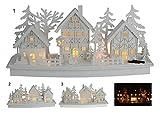 Eingeschneites Weihnachtsdorf mit 10 LED - Dorf Krippe Variante 1