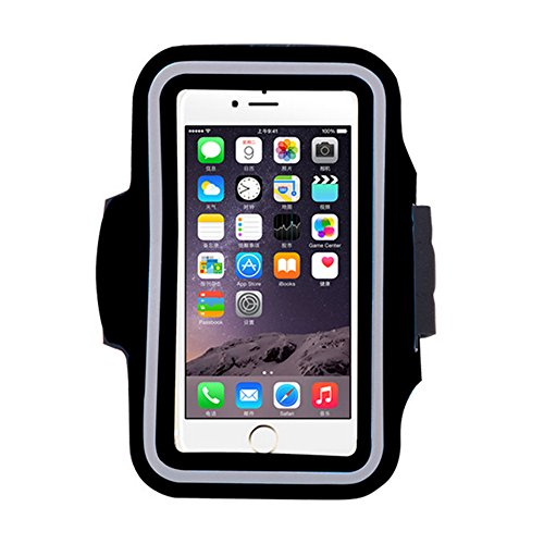 Premium Wasserdicht Fitness Laufen Walking Outdoor Sports Gym Universal Armband Übung Tasche Sleeve Pouch Cover für alle Handy iPhone 6 6S Plus 7 5 5S 5 C 4S 4 Sumsung (Kostüm Fi)