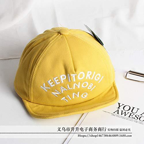 Kostüm Hotdog Baby - mlpnko Baby Jungen und Mädchen Caps Mädchen Baseball Mütze Soft Shade Wild Hat Yellow 50-52cm