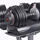 DialTech Hantelsystem - Einstellbare Hantel von 5 bis 32,5 KG im Set mit Ständer