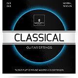 Gitarrensaiten Konzertgitarre ★ TESTSIEGER 2019¹ ★ Premium Nylon Saiten für klassische Gitarre & Akustikgitarre (6 Saiten-Set) + E-Book