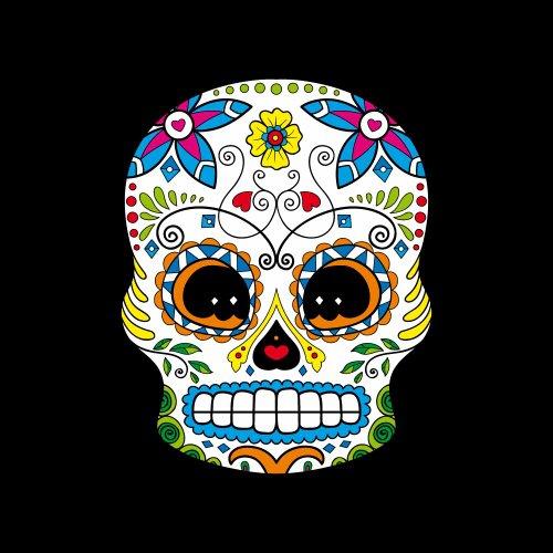 Sugar Skull 48 - Totenkopf-T-Shirt - Damen Weiß