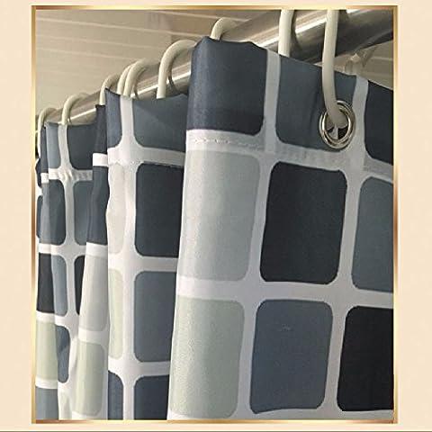 KHSKX Shower Curtain,The mosaic bathroom curtain fabric curtains thick polyester,180 * 180