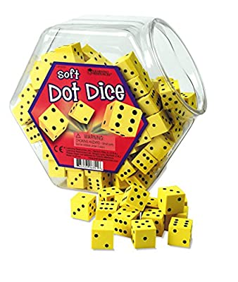 Learning Resources Soft Foam Dot Dice - Set of 200 by Learning Resources