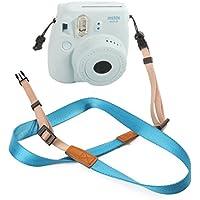 Woodmin Instax Cinghia Della Fotocamera per Fujifilm Instax Mini 25/50/7/8/90 Camera (Blu)