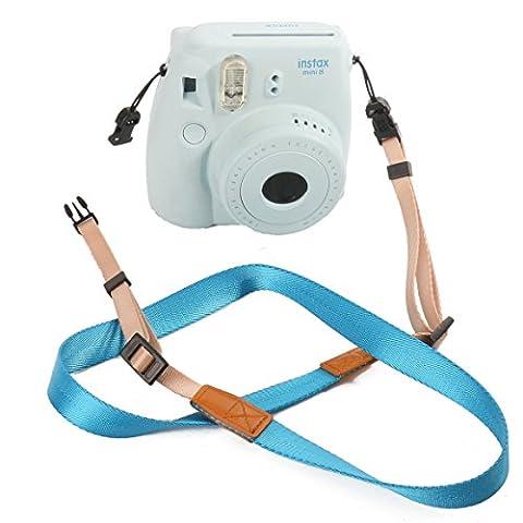 [Fujifilm Universal Camera Strap] — WOODMIN Adjustable Shoulder Belt for Fujifilm Instax Mini Camera, Polaroid Camera, Digital Camera, Nikon Camera, Cannon Camera, Samsung Camera(Blue)