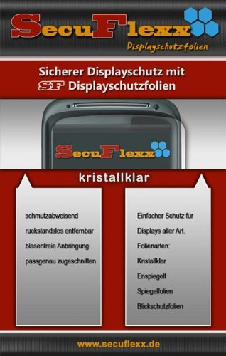SecuFlexx Crystal Clear (kristallklar) Display Schutzfolie O2 XDA Atom -