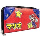 Super Mario Japonais l'écriture Style Rouge Portefeuille