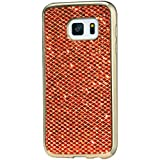 KSHOP Étui Case pour Samsung Galaxy A3 (2016) A310F Ultra-Mince Silicone Gel Housse Bling Glitter Coque de protection TPU Case Protection Cover Couvrir Pare-Chocs Anti-rayure Coquille Arrière - Orange
