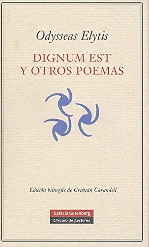 Dignum est y otros poemas (POESÍA) por Odysseas Elytis