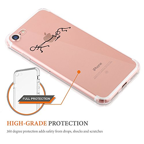 Pacyer® iPhone 7 Custodia Panda Transparente TPU Gel Silicone Protettivo Skin Shell Case Cover Per Apple iPhone 7 (4.7) 5