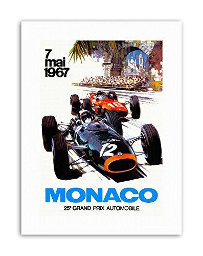 Wee Blue Coo LTD Monaco 25 Grand Prix Automobile 1967 Race New Poster Picture Vintage Sport -