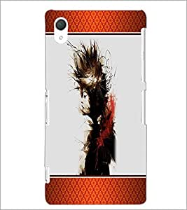 PrintDhaba Girl D-1344 Back Case Cover for SONY XPERIA Z2 (Multi-Coloured)