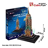 3D LED PUZZLE EMPIRE STATE BUILDING 38 STÜCK