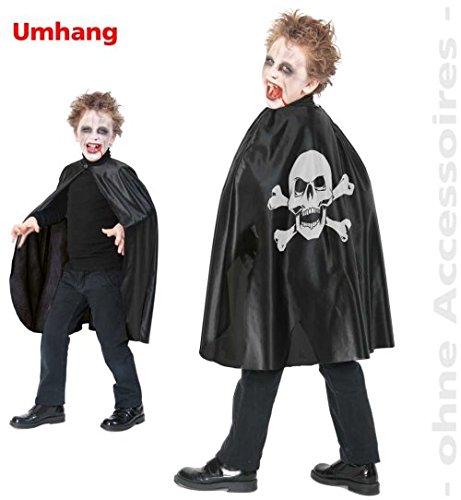 Umhang 1tlg Skull 104/116 Vampir (Kostüme Harry Potter Kleinkind)