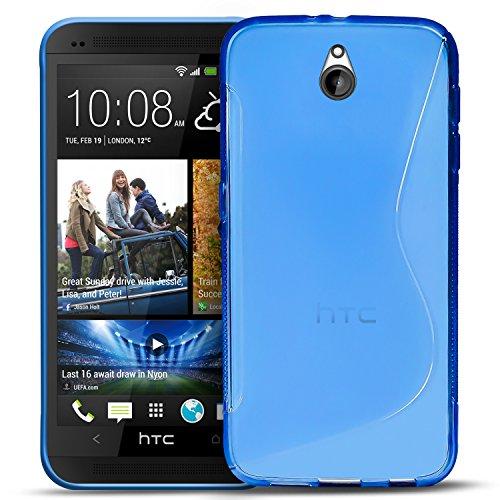 Conie Rückschale für HTC One Mini - Silikon Schutzhülle im S-Line Design Hülle aus TPU, Kratzfest Kantenschutz, One Mini Handyschale