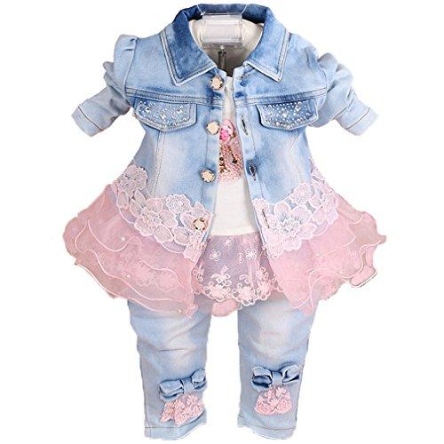 Baby Girls Denim Clothing Sets 3...