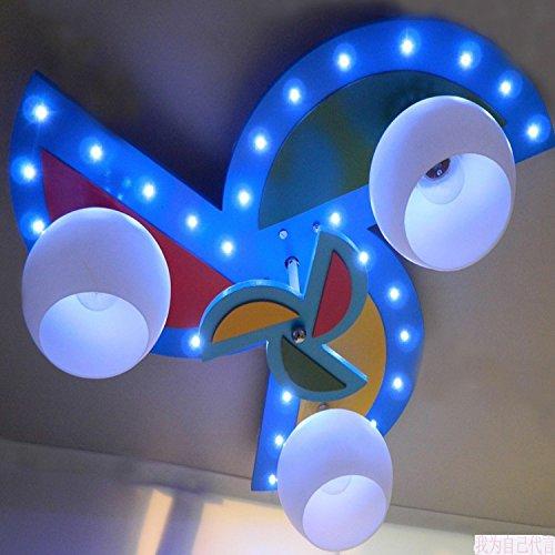 BGmdjcf Cartone animato per bambini lampade a luce di mulino a vento in legno lampade da soffitto camera da letto accende le luci sono decorative , kindergarten LED+ con telecomando