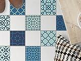 Bodenfliesen Aufkleber - Fliesen für Boden | Sticker Aufkleber Folie für Bodenfliesen - Bad Oder Küche | Fliesenfolie als Alternative zu Fliesenfarbe | 10x10 cm - Design Ornament