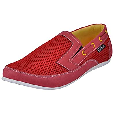FAUSTO 1009-44 Red Men's Canvas Shoes