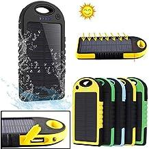 5000mAh cargador solar impermeable batería externa portátil para smartphones