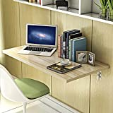 Klapptisch Einstellbar Wandtisch an der Wand Backlack Laptop Schreibtisch 8 Farben Optional 60 * 40cm Kann Gedreht Werden (Farbe : E)
