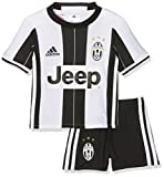 adidas Jungen Trainingsanzug Juventus Turin Mini-Heimausrüstung Trikot + Shorts, Top:White/Black Bottom:Black/White, 104